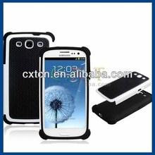 Silicone & Plastic Case for Samsung Galaxy S3 I9300 (White & Black)