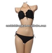 stringy selvedge ruffle flower bikini swimwear swimsuit bathing suit beachwear