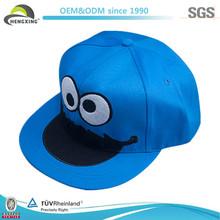 Blue Cotoon Custom Flat Brim MInion Sharp Kid Snapback Cap 2013
