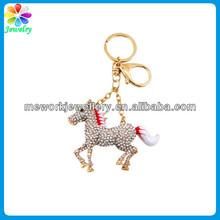 Horse Purse Charm Keychain Bejeweled metal horse keychains