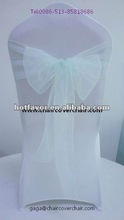 organza chair sash, chair sash for wedding, chair sash in various color china manufacturer supplier