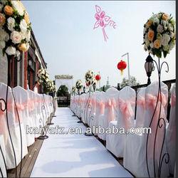 22*280cm ORGANZA BLUSH CHAIR COVER SASH BOWKNOT WEDDING BANQUET PARTY DECOR