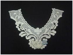 small flower white cotton collar kurti