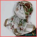 mode fleur en mousseline de soie imprimé foulard africain