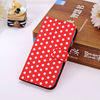 Business Fashion Polka Dot Leather Flip Case Cover For Samsung S4 Mobile cover