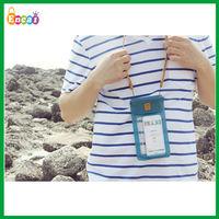 Encai Fashion Summer Beach Mobile Phone PVC Waterproof Neck Bag/Transparent PVC Neck Pouch For Cellphone(S)