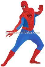 Adult latex spiderman catsuit costume spandex spiderman costume CM-1555