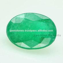 Wholesale Loose Natural Gemstones, Green Emerald Oval Cut Loose Gemstones