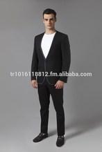 Mens Single Jacket - Special Design Lapel - %100 Wool Super 140's