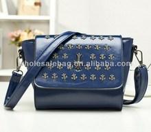 2014 Hot Sale Designer Small Cross Studed Handbag Tote Bag In Stock Wholesale For Ladies Women Girl