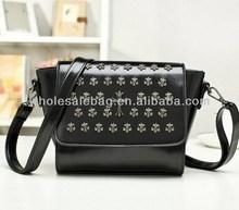 2014 Hot Sale Designer Cute Cross Studed Handbag Tote Bag In Stock Wholesale For Ladies Women Girl