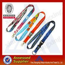 Wholesale custom printed lanyard /polyester sublimation printed lanyard neck strap