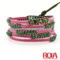 fio cabo pulseira com contas feitas à mão pulseira de pérola jóias wholeale jóias moda ornamento acessório