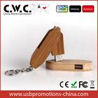 Wood swivel USB memory stick keychain customized USB flash drive 1GB/2GB/4GB/8GB/16GB engraving custom LOGO