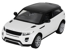 RASTAR Authorized 1:14 Land Rover Range Rover Evoque RC Toy Car with LED Lights (White)
