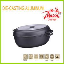 2014 new die cast aluminum non-stick oval chicken rooster