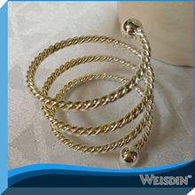 Elegant metal napkin ring for wedding centerpieces