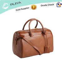 Blush leather small duffle bag style handbag tote bag -JC-41405