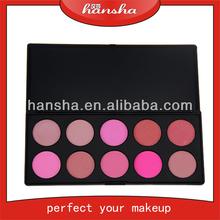 wholesale guangzhou makeup blusher, 10 color Makeup blush Palette,wedding in blush color