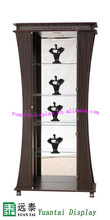 modern glass display cabinet with LED light/antique wooden display cabinet
