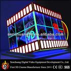 Hydraulic motion 9D cinema kino with cinema cabin