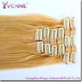 venta caliente aaaa grado 613 baratos de color del pelo humano extensiones de clip en