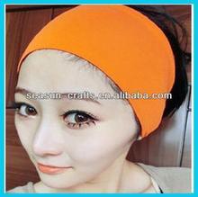 Wholesale Custom WOMEN or KIDS elastic yoga headband , 20*7cm,can making LOGO