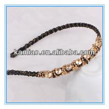 2014 crystal beaded bridal hairband angel halo headband