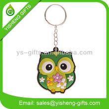Owl Cartoon Character Sott PVC Keyring/Keychains