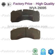 China wholesale brake pad set genuine asbestos free hi-q 29095 price Man heavy truck brake parts spare C.V. disc brake pads