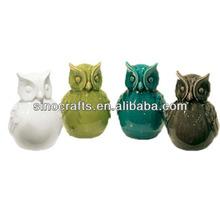 custom made ceramic owl statues