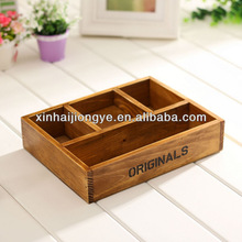 regular size antique color wooden tea box with factory price