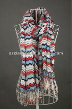 Xh-1317 2014 nueva ola de moda bufanda de la impresión