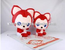 factoy custom plush fox toy cartoon design
