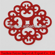 China traditional lucky shape designed felt table mat