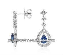 2014 Most Popular Custom bali 925 sterling silver wholesale earring