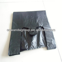 25 Microns High Tensile Strength Disposable black plastic bags