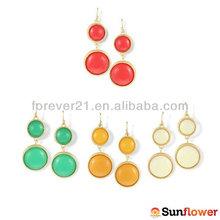 Ali Express Bulk Cheaper Double Bubble Beads Hoop Earrings From China