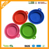 Folding Silicone Pet Dog Water Food Feeding Bowl Outdoor Travel Random Color