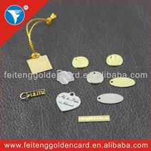 Fashion DIY Wholesale Metallic Nameplate Exported Modern Shiny Mini Silver Round Metal Tags with Customized Logo