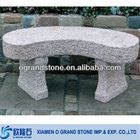 For sale outdoor park natural curved stone bench