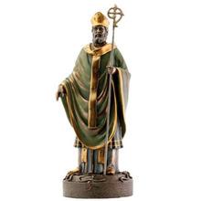 Promotional Item Bronze Color Saint Patrick Statue Holiday Decor
