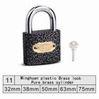 High quality Stainless steel locking plastic brass padlock