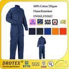 EN11611/EN11612 Oil Field /Boilersuit 100% cotton coverall flame retardant workwear