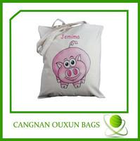 cute cotton shop bag for girls