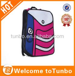 2014 lady fashion 3D cartoon bag paper bag handbag school bag