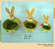 New Design Easter Gift Straw Basket For Promotion