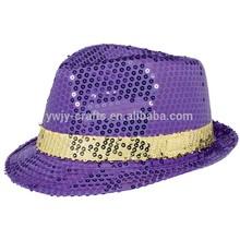 Fashionable Purple Sequins Women's Hat/Party Hat