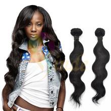 "Stock 10""-30"" natural color 6A Grade virgin unprocessed hair weaving bundles body wave brazlian hair"