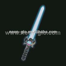 LED Flashing Sword , 63cm Long Color-changing Flash Space Sword (3xAA batteries )